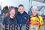 Jean Curtayne Killorglin, Micheál Walsh Glenbeigh and Lucy Curtayne Killorglin at the Duathlon in Killorglin on Saturday
