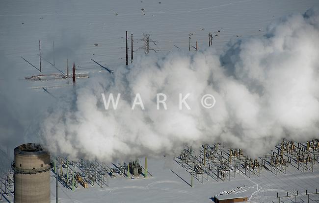 Comanche electric power plant in winter