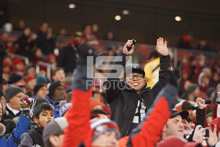 Santa Clara- December 30, 2014: Fans during the Stanford vs Maryland Foster Farms Bowl at Levi's Stadium in Santa Clara Tuesday night.<br /> <br /> Stanford won 45-21.