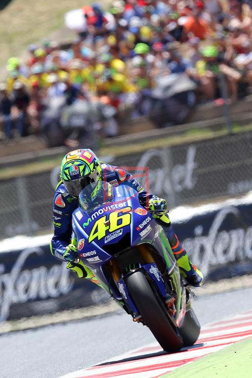 Gran Premi Monster Energy de Catalunya 2017.<br /> Moto GP Race.<br /> Valentino Rossi.