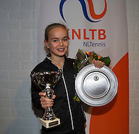 November 30, 2014, Almere, Tennis, Winter Youth Circuit, WJC,  Prizegiving,  Bente Spee winner and overall winner<br /> Photo: Henk Koster