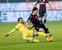Daniel Plavovic  and Riccardo Monteolivo   during   Italian Serie A soccer match between Frosinone and AC Milan  at Matusa  Stadium in Frosinone ,December 20  , 2015
