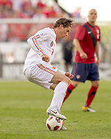 Spain forward Fernando Torres (9) controls the ball. In a friendly match, Spain defeated USA, 4-0, at Gillette Stadium on June 4, 2011.