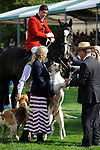 Stamford, Lincolnshire, United Kingdom, 8th September 2019, HRH Countess of Wessex and Lady Louise Windsor and the Fitzwilliam Hounds during the prize giving ceremony on Day 4 of the 2019 Land Rover Burghley Horse Trials, Credit: Jonathan Clarke/JPC Images