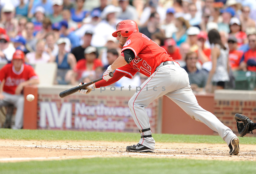 KEVIN FRANDSEN, of the Los Angeles Angels, in action during the Angels game against the Chicago Cubs at Wrigley Field in Chicago, IL on June 18, 2010.  ..The Angels won the game 7-6...