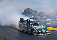 Jul. 27, 2014; Sonoma, CA, USA; NHRA funny car driver John Force during the Sonoma Nationals at Sonoma Raceway. Mandatory Credit: Mark J. Rebilas-