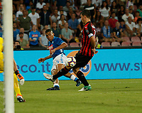 Miguel Allan  during the  italian serie a soccer match,  SSC Napoli - Milan      at  the San  Paolo   stadium in Naples  Italy , August 25, 2018
