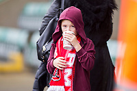 Fleetwood fans ahead of the Sky Bet League 1 match between Plymouth Argyle and Fleetwood Town at Home Park, Plymouth, England on 7 October 2017. Photo by Mark  Hawkins / PRiME Media Images.