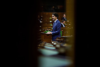 Prime Minister Trudeau addresses the House of Commons in West Block. April 11, 2020.
