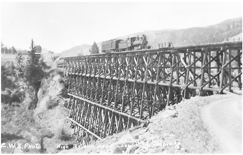High Bridge.<br /> D&amp;RG  Lake City Branch, CO  Taken by Saderholm, Emil - 1920-1929