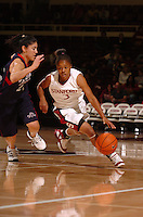 13 November 2005: Markisha Coleman during Stanford's 92-65 win over Love and Basketball at Maples Pavilion in Stanford, CA.
