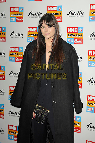 LONDON, ENGLAND - FEBRUARY 18: Lilah Parsons attending the NME Awards at Brixton Academy on February 18 2015 in London, England.<br /> CAP/MAR<br /> &copy; Martin Harris/Capital Pictures