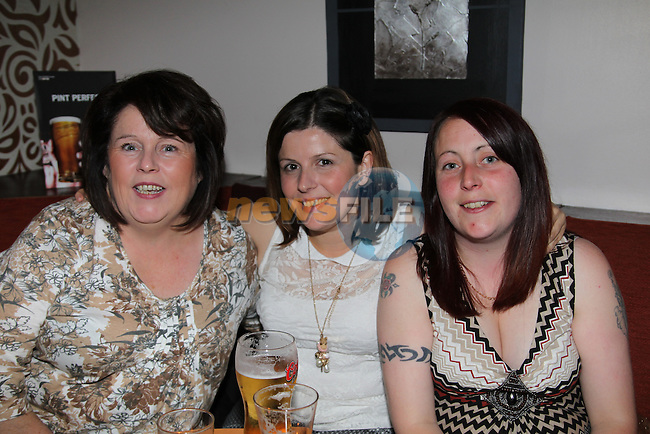 Olivia McCarthy, Leanne McDonnell and Angela Everitt in the Trinity Arms..Picture: Fran Caffrey/www.newsfile.ie.