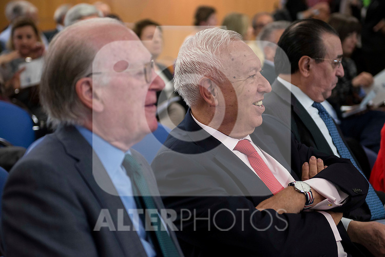 Politic José Manuel García-Margallo involved in the presentation of the report on the State of the European Union in Madrid. June 02. 2016. (ALTERPHOTOS/Borja B.Hojas)