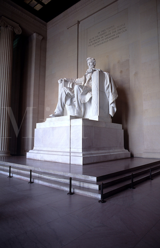 Lincoln Memorial Monument statue in Washington DC, USA