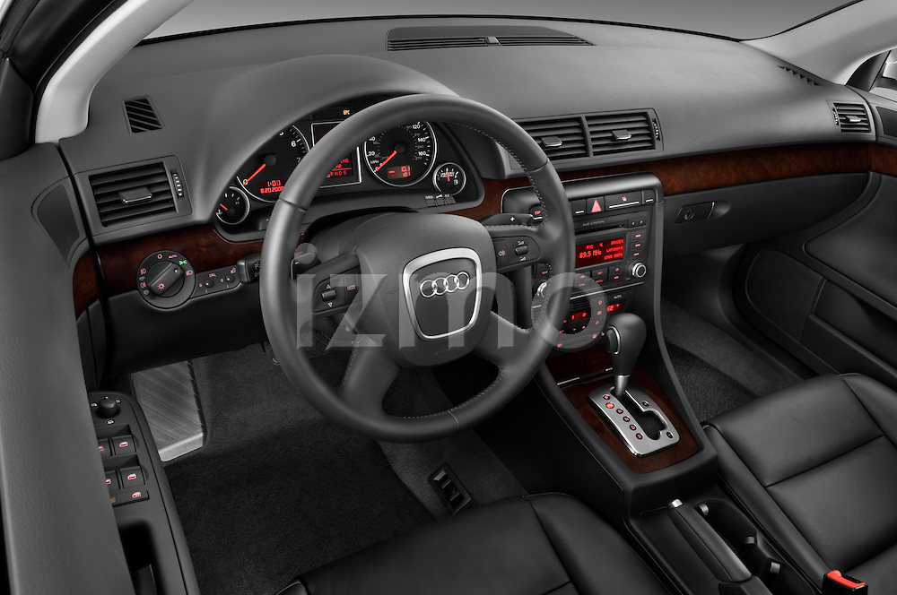 High angle dashboard view of a 2005 - 2008 Audi A4 3.2 Sedan.