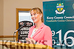 Kate Kennelly, Kerry County Council at the formal opening of the 1916 roadshow in Kerins O'Rahilly's Clubhouse on Saturday