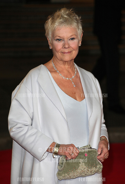 Dame Judi Dench arriving for the Royal World Premiere of 'Skyfall' at Royal Albert Hall, London. 23/10/2012 Picture by: Alexandra Glen / Featureflash