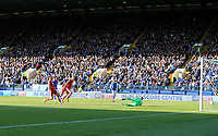 Gary Hooper of Sheffield Wednesday goal during the Sky Bet Championship match between Sheffield Wednesday and Nottingham Forest at Hillsborough, Sheffield, England on 9 September 2017. Photo by Leila Coker / PRiME Media Images.