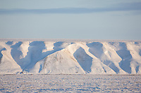 Franklin bluffs, winter, Arctic North Slope, Alaska.