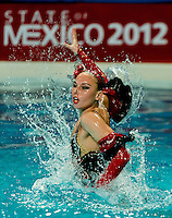 Lolita ANANASOVA Ukraina UKR Mexican dances.all the routines must be  ledby a Mexican  thread.Duet Thematic event Day01 - Nov. 30.7th FINA Synchronized Swimming  World Trophy.Mexico City MEX - Nov. 30th, Dec. 2nd, 2012.Photo G.Scala/Deepbluemedia/Inside .Nuoto Sincronizzato