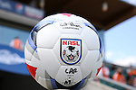 02 April 2016: The new Under Armour official NASL match ball made its debut during the game. The Carolina RailHawks hosted Minnesota United FC at WakeMed Stadium in Cary, North Carolina in a 2016 North American Soccer League Spring Season game. Carolina won the game 2-1.