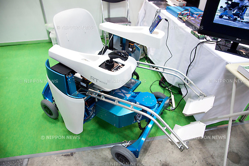 October 17, 2012, Tokyo, Japan - A mechanical chair at human heart at Japan Robot Week. The Japan Robot Week 2012 shows the New Energy and Industrial Robot Innovation Technology products in Japan, the exhibition opens from October 17 to 19 at Tokyo Big Sight. (Photo by Rodrigo Reyes Marin/AFLO)..