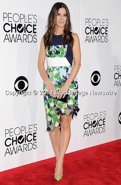 Pictured: Sandra Bullock<br /> Mandatory Credit &copy; Gilbert Flores /Broadimage<br /> 2014 People's Choice Awards <br /> <br /> 1/8/14, Los Angeles, California, United States of America<br /> Reference: 010814_GFLA_BDG_167<br /> <br /> Broadimage Newswire<br /> Los Angeles 1+  (310) 301-1027<br /> New York      1+  (646) 827-9134<br /> sales@broadimage.com<br /> http://www.broadimage.com