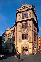 Haus zum goldenen Brunnen in der Karlova, Prag, Tschechien, Unesco-Weltkulturerbe.