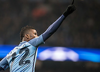 Kelechi Iheanacho of Manchester City celebrates his goal during the UEFA Champions League GROUP match between Manchester City and Celtic at the Etihad Stadium, Manchester, England on 6 December 2016. Photo by Andy Rowland.