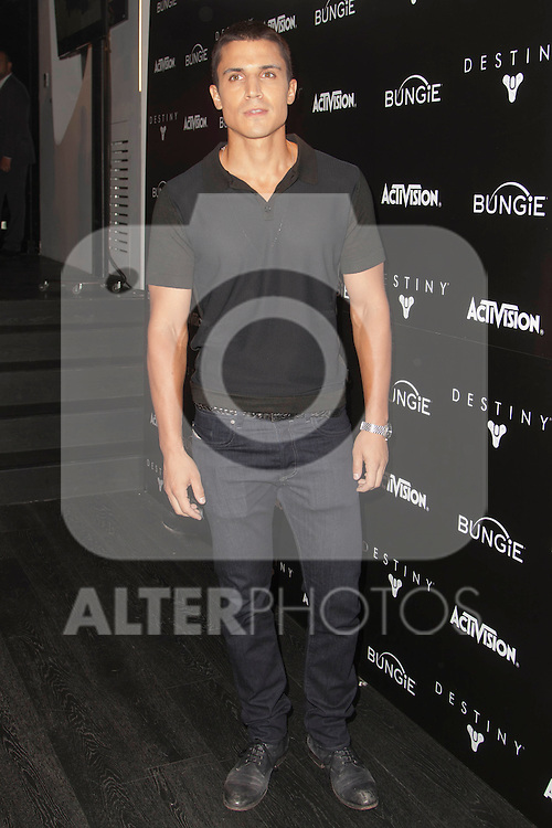 Spanish actor Alex Gonzalez presents the video game: 'Destiny' at A-CERO Studio in Madrid. September 08, 2014. (ALTERPHOTOS / Nacho Lopez)