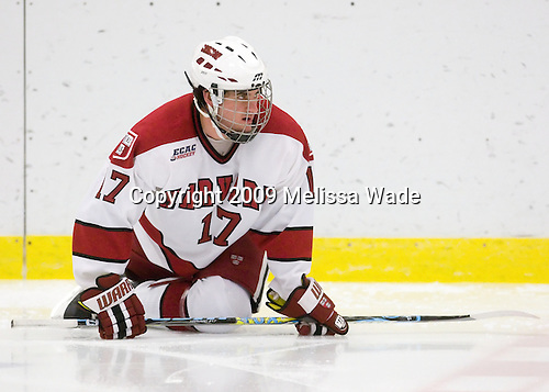 Rence Coassin (Harvard - 17) - The Boston College Eagles defeated the Harvard University Crimson 3-2 on Wednesday, December 9, 2009, at Bright Hockey Center in Cambridge, Massachusetts.