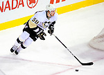6 February 2010: Pittsburgh Penguins' defenseman Kris Letang in action against the Montreal Canadiens at the Bell Centre in Montreal, Quebec, Canada. The Canadiens defeated the Penguins 5-3. Mandatory Credit: Ed Wolfstein Photo