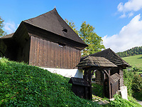 evangelische h&ouml;lzerne Artikularkirche in Lestiny, Zilinsky kraj, Slowakei, Europa, UNESCO-Welterbe<br /> protestant wooden Articular church in Lestny, Zilinsky kraj, Slovakia, Europe, UNESCO World Heritage