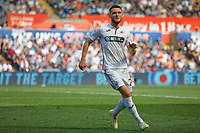 Matt Grimes of Swansea City in action during the Sky Bet Championship match between Swansea City and Rotherham United at the Liberty Stadium, Swansea, Wales, UK. Friday 19 April 2019