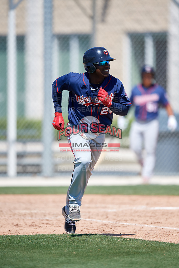 Minnesota Twins Yunior Severino (20) during a Minor League Spring Training game against the Tampa Bay Rays on March 15, 2018 at CenturyLink Sports Complex in Fort Myers, Florida.  (Mike Janes/Four Seam Images)