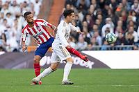 Real Madrid´s Luka Jovic  and Atletico de Madrid´s Renan Lodi during La Liga match. February 1, 2020. <br /> (ALTERPHOTOS/David Jar)<br /> 01/02/2020 <br /> Liga Spagna 2019/2020 <br /> Real Madrid - Atletico Madrid  <br /> Foto Alterphotos / Insidefoto <br /> ITALY ONLY