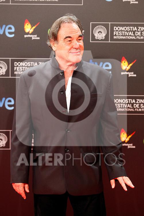 Director Oliver Stone posses in the photocall of the 61 San Sebastian Film Festival, in San Sebastian, Spain. September 20, 2013. (ALTERPHOTOS/Victor Blanco)
