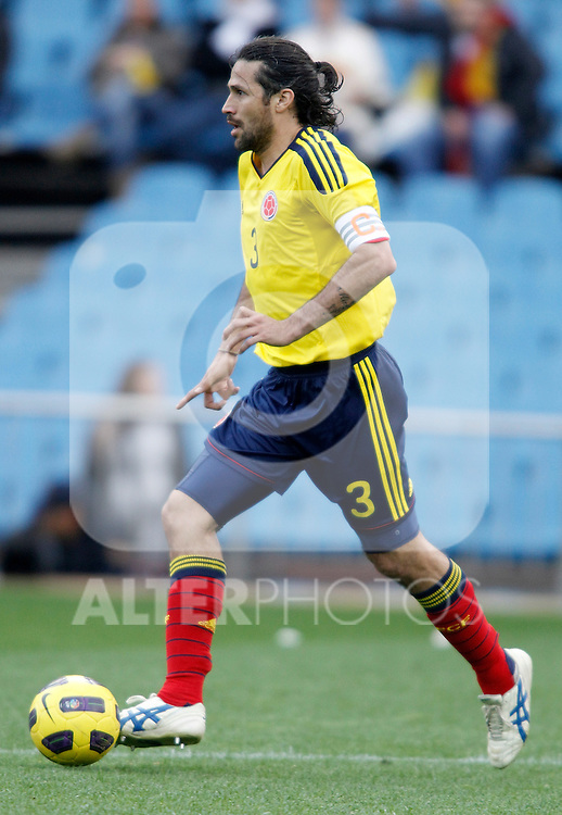 Colombia's national team Mario Yepes during international friendly. March 26, 2011. (ALTERPHOTOS/Alvaro Hernandez)