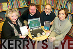 ON THE WEB: Members of the Knibs Writers Group in Killorglin who have launched a new website, l-r: Hazel Endean, Tim Powell, Mick Jones, Eibhlin Hayes (Killorglin Library).   Copyright Kerry's Eye 2008
