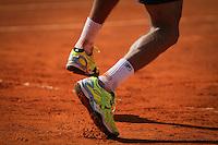Tenista tcheco Tomas Berdych (de branco) contra o argentino Carlos Berlocq durante Portugal Open ATP. último jogo de ténis no Jamor Stadium, em Oeiras, de Lisboa, em 04 de maio de 2014 (Foto: Pedro Lopes / Brasil Foto Press)