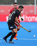 Simon Child during the Pro League Hockey match between the Blacksticks men and Belgium, National Hockey Arena, Auckland, New Zealand, Sunday 2 February 2020. Photo: Simon Watts/www.bwmedia.co.nz