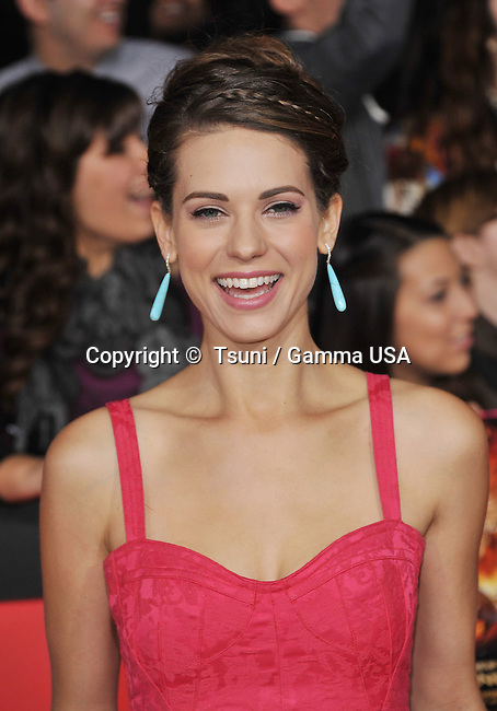 lyndsy fonseca  arriving at the The Hunger Games- Catching Fire Premiere at the Nokia Theatre In Los Angeles.