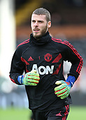 9th February 2019, Craven Cottage, London, England; EPL Premier League football, Fulham versus Manchester United; Goalkeeper David De Gea of Manchester United