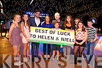 Abbey Casey, Anna Leenchek, .Jack Moriarty, Adam Lenihan, Marie Enright, Joseph Enright, Megan Enright, Eileen Enright, Leah Enright, Tom Buckley Supporting Helen Enright and Neil O'Shea at the Austin Stacks Strictly come Dancing Finals at the Rose Dome on Saturday