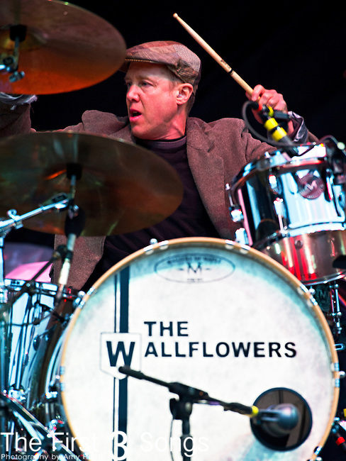 Jack Irons of The Wallflowers performs during the The Beale Street Music Festival in Memphis, Tennessee.