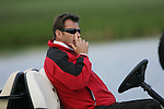 Team Captain Nick Faldo watching the action on he 18th fairway during the first round of the Seve Trophy at The Heritage Golf Resort, Killenard,Co.Laois, Ireland 27th September 2007 (Photo by Eoin Clarke/GOLFFILE)
