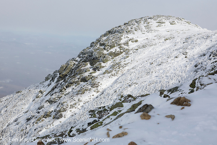 North Lafayette Mountain from Greenleaf Trail in the White Mountains, New Hampshire  during the winter months.