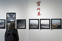 Photos of Dezso Bozoky taken in China between 1907-1909 are seen on display at Kolta Gallery in Budapest, Hungary on May 22, 2019. ATTILA VOLGYI