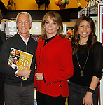 """Cast of Days Of Our Lives - Greg Meng, Lauren Koslow, Galen Gering sign book """"Days Of Our Lives 50 Years"""" by Greg Meng - author & co-executive producer on October 27, 2015 at Books & Greetings, Northvale, New Jersey. (Photo by Sue Coflin/Max Photos)"""